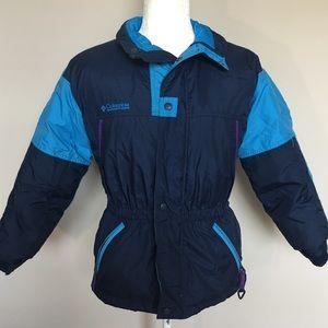 Columbia Girls 10-12 Navy Blue Puffer Ski Coat